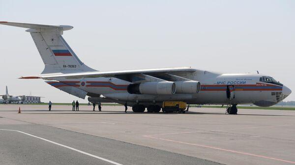 Вылет самолёта МЧС с пострадавшими при стрельбе из Казани в Москву