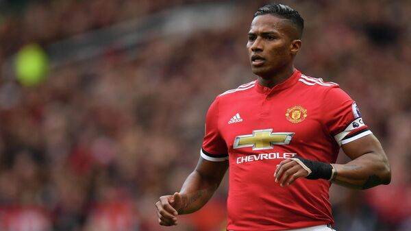 Manchester United's Ecuadorian midfielder Antonio Valencia is pictured during the English Premier League football match between Manchester United and Arsenal at Old Trafford in Manchester, north west England, on April 29, 2018. (Photo by Paul ELLIS / AFP) / RESTRICTED TO EDITORIAL USE. No use with unauthorized audio, video, data, fixture lists, club/league logos or 'live' services. Online in-match use limited to 75 images, no video emulation. No use in betting, games or single club/league/player publications. /