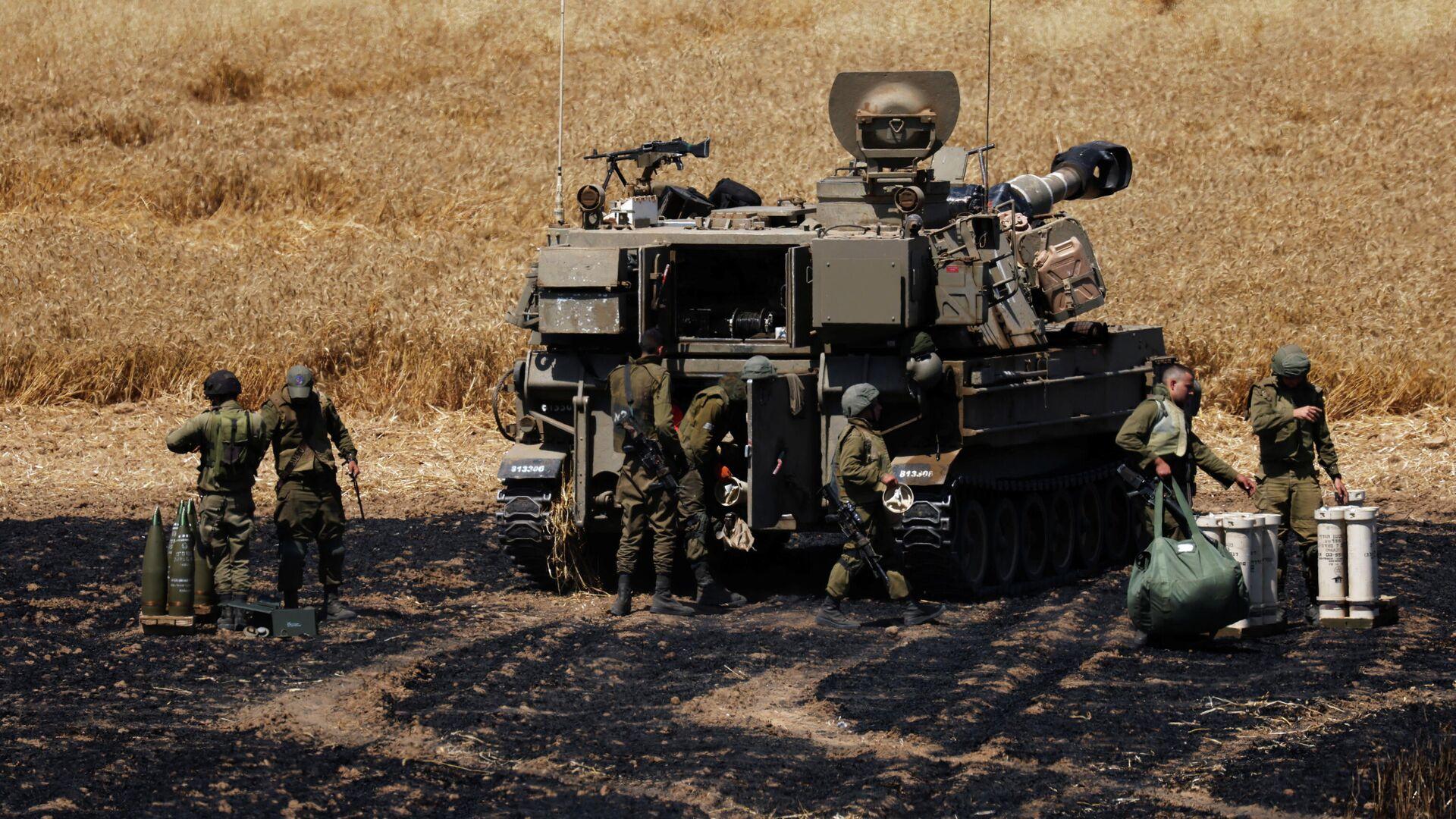 Израильские военнослужащие на границе Израиля и сектора Газа - РИА Новости, 1920, 14.05.2021