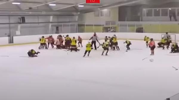 Драка на детском хоккейном матче