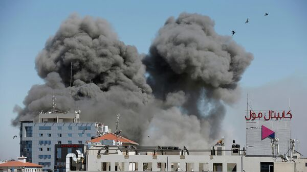 Последствия авиаудара Израиля по сектору Газы