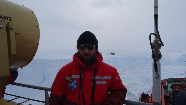Дмитрий Воробьев, начальник Антарктической геофизической партии Полярной морской геологоразведочной экспедиции (Росгеология)