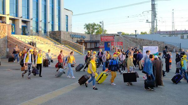 Участники Двадцатых молодежных Дельфийских игр России