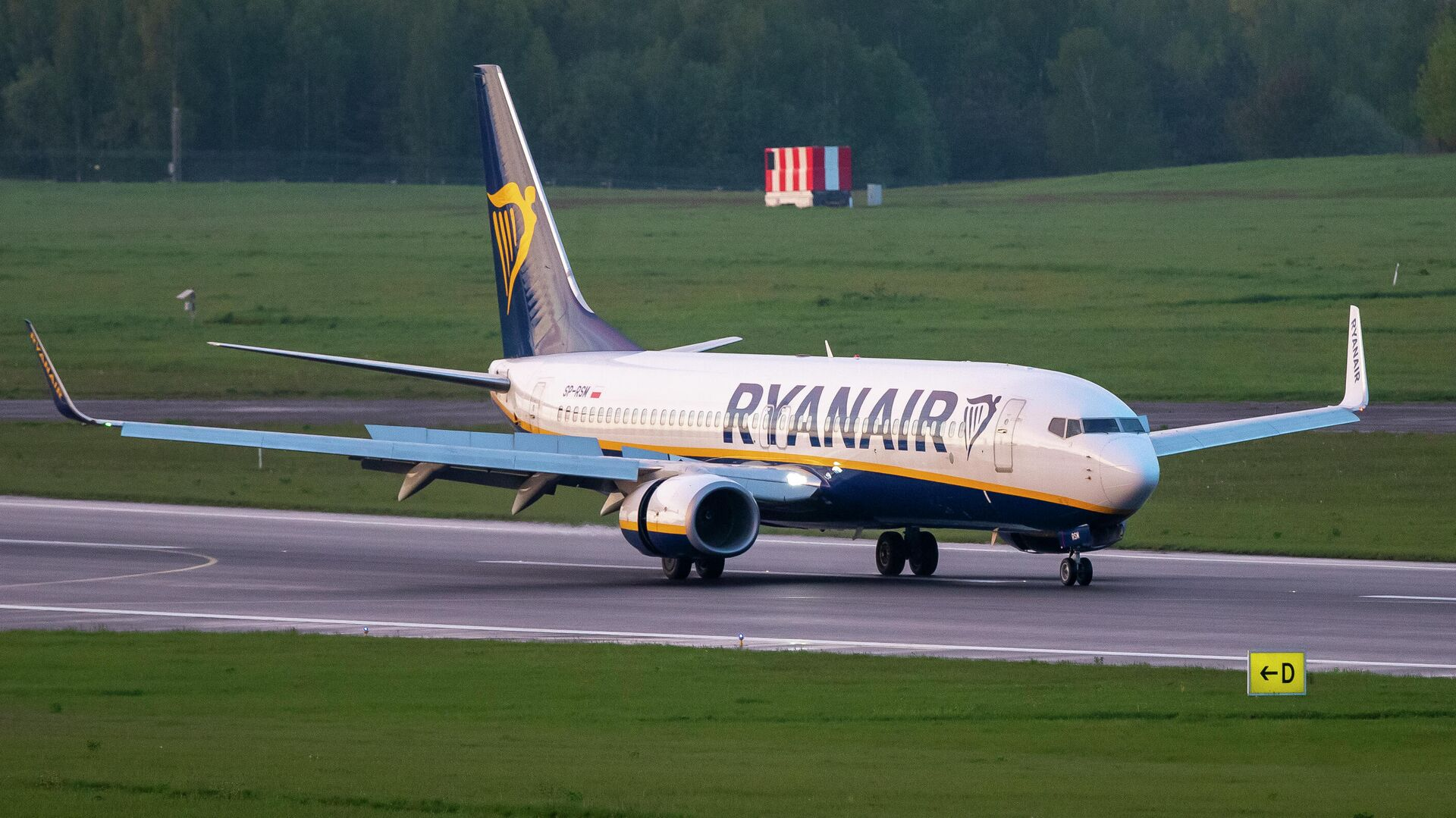 Самолет авиакомпании Ryanair, на котором находился Роман Протасевич, в аэропорту Вильнюса - РИА Новости, 1920, 25.05.2021