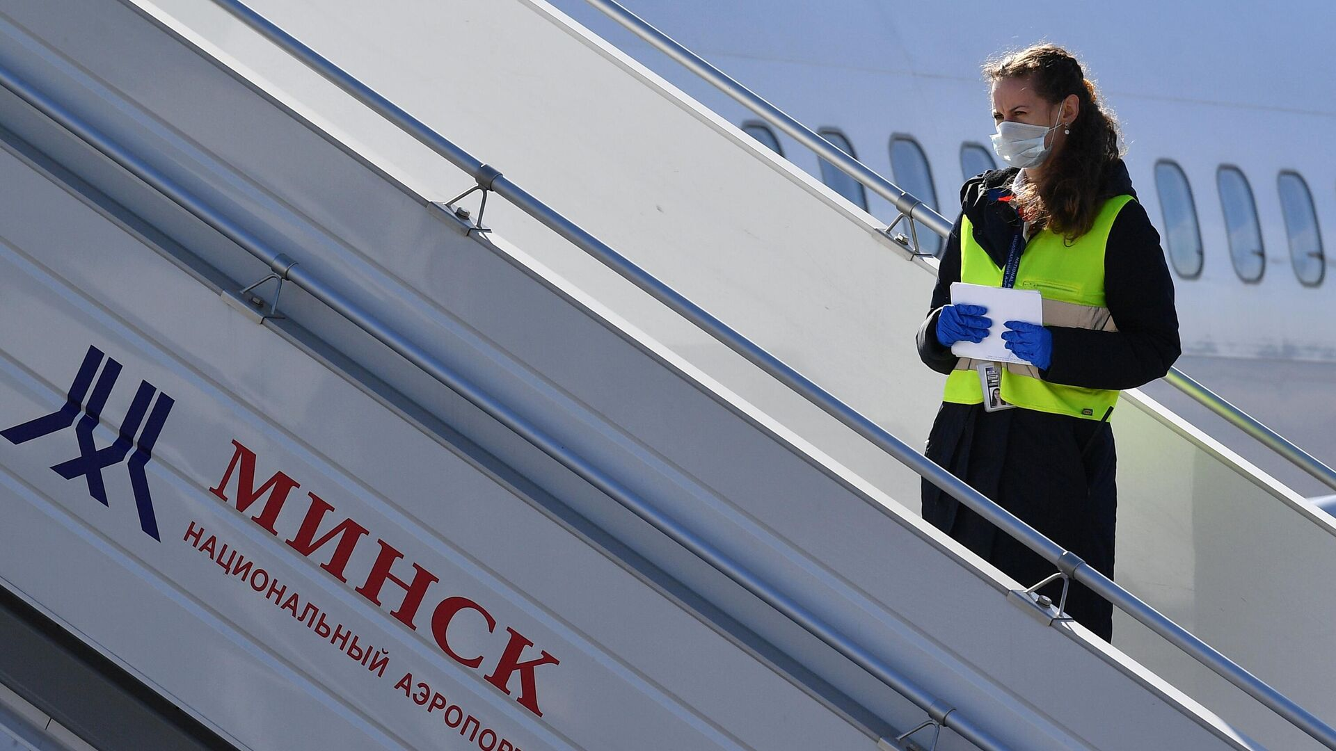 Сотрудник национального аэропорта Минск  - РИА Новости, 1920, 15.09.2021