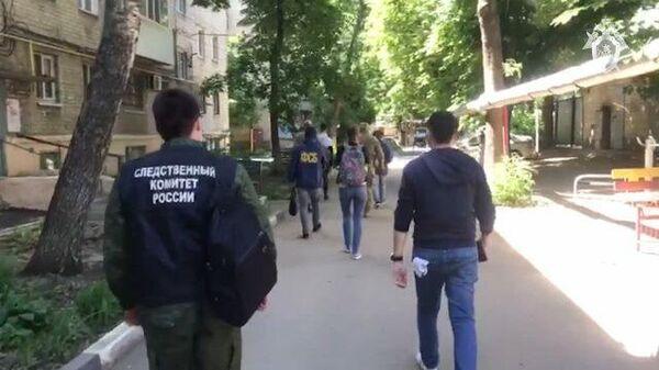 Кадры задержания членов ячейки украинской экстремистской группы М.К.У.