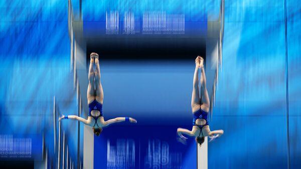 Синхронные прыжки в воду. Чемпионат Европы. Женщины. Вышка 10 м