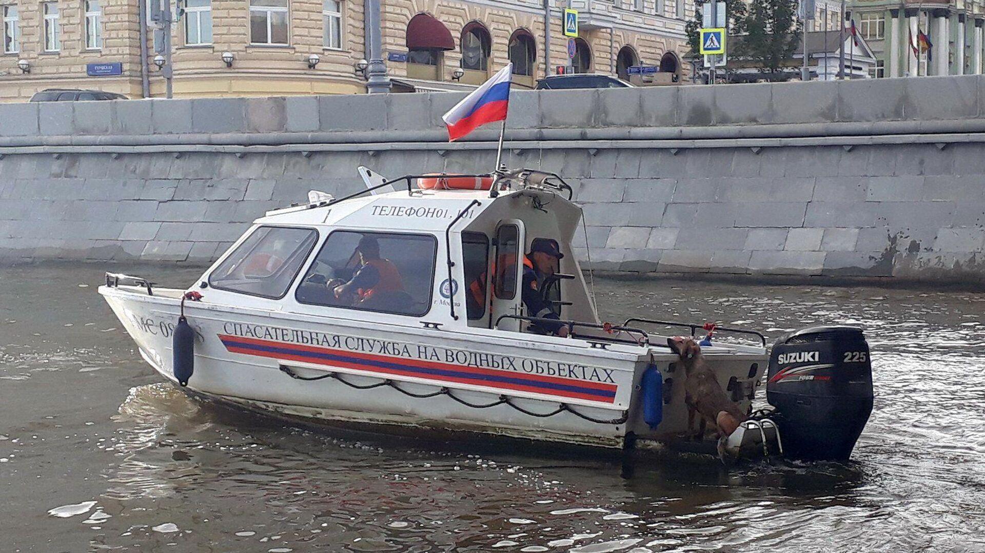 В центре Москвы спасли тонущую в реке собаку