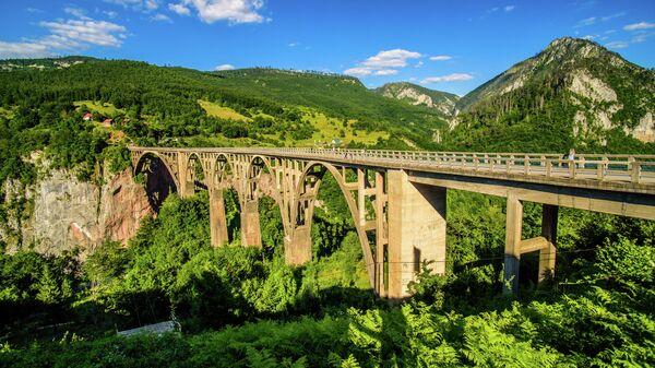 Мост Джурджевича и каньон реки Тара