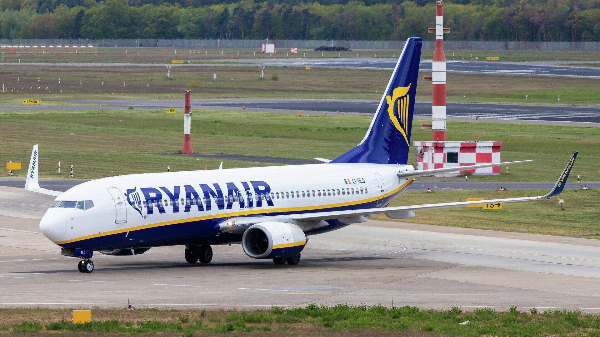 Самолет авиакомпании Ryanair в аэропорту Берлина, Германия - РИА Новости, 1920, 10.06.2021
