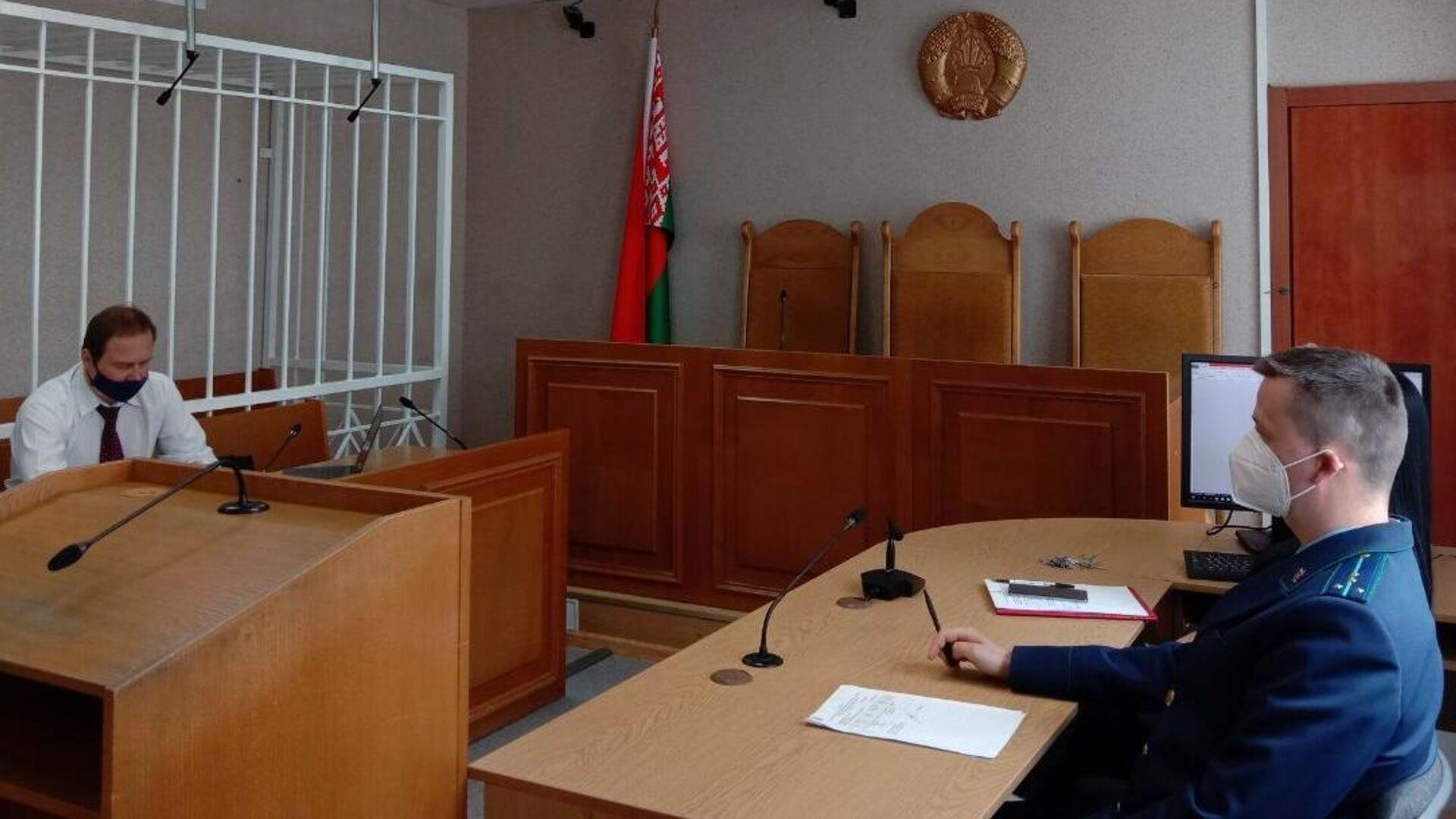 Адвокат Александр Филанович во время заседания суда по делу россиянки Софии Сапеги в Минске - РИА Новости, 1920, 13.06.2021