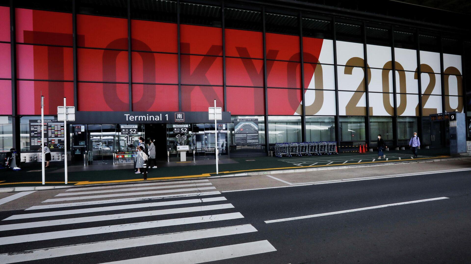 Рекламный логотип Олимпийских и Паралимпийских игр 2020 года в Токио - РИА Новости, 1920, 02.07.2021
