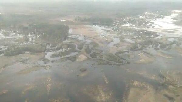 Река Ия вышла из берегов. Кадры МЧС