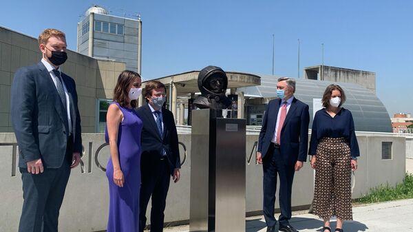 Торжественная церемония открытия бюста Юрию Гагарину в Мадриде, Испания