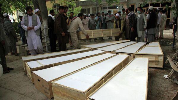 Похороны погибших сотрудников британо-американской некоммерческой организации HALO Trust в Афганистане