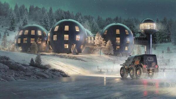 Проект международной арктической станции Снежинка