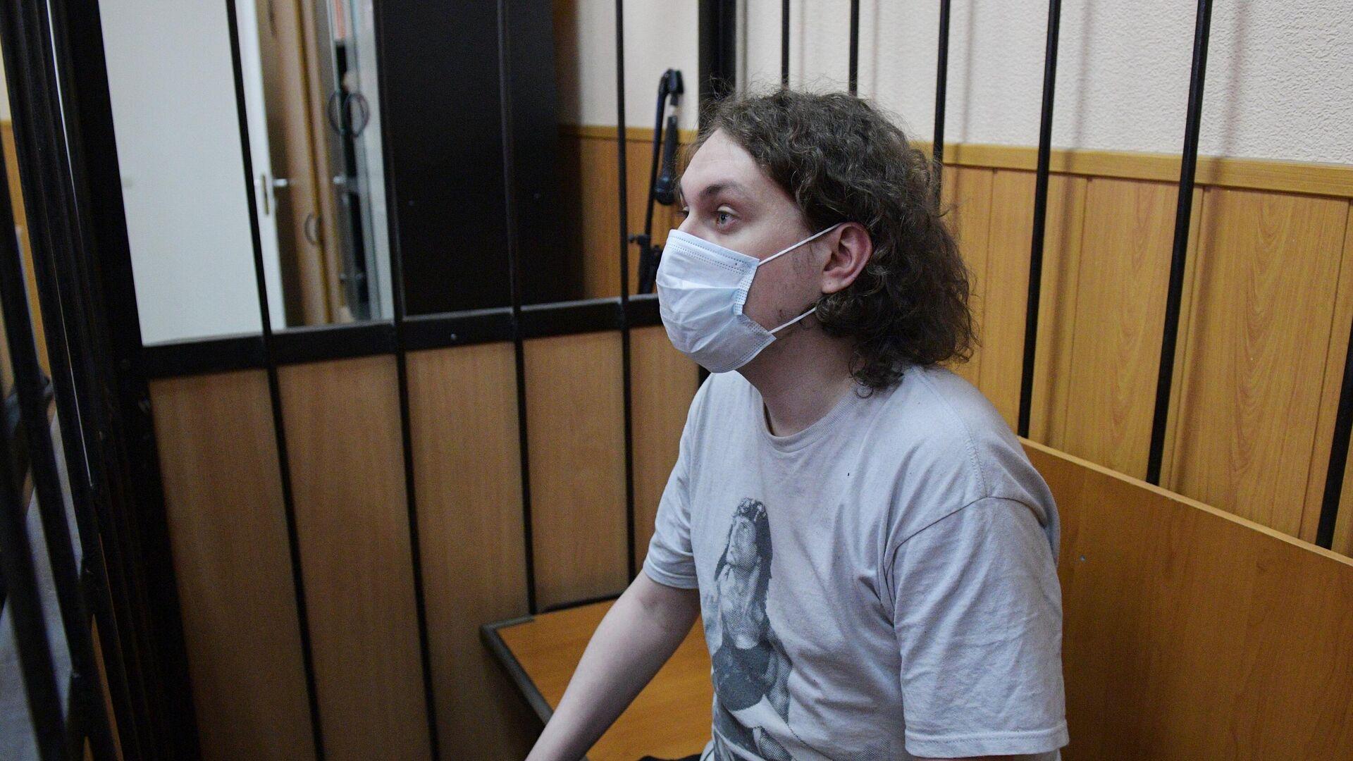 Блогер Юрий Хованский, обвиняемый в оправдании терроризма, в Дзержинском районном суде - РИА Новости, 1920, 12.06.2021