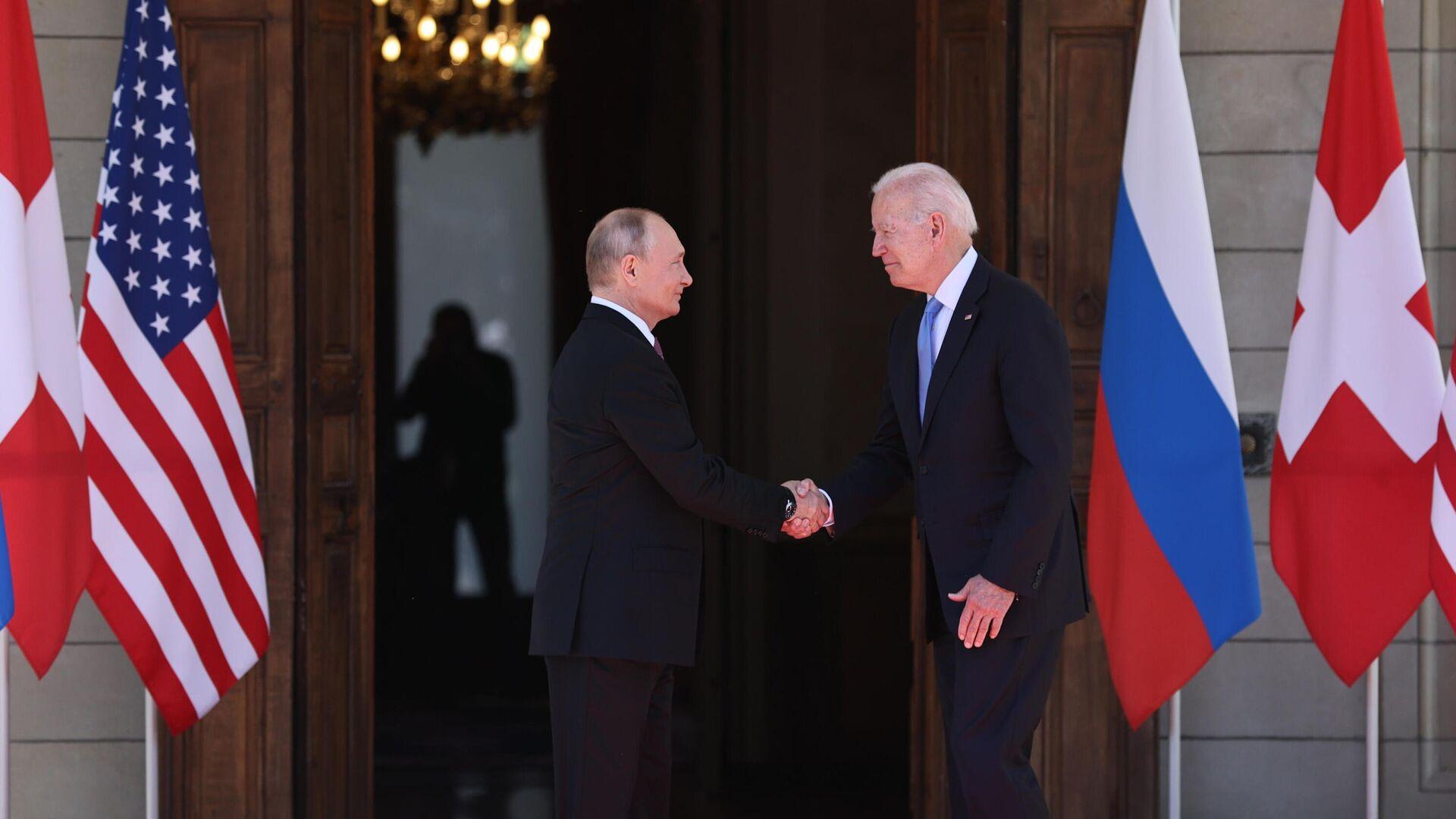 Встреча президентов России и США В. Путина и Дж. Байдена в Женеве - РИА Новости, 1920, 16.06.2021