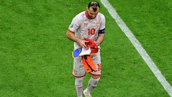 Нападающий сборной Македонии Горан Пандев