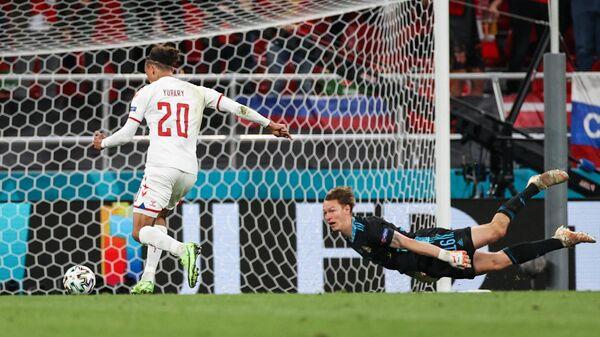 Футбол. ЧЕ-2020. Матч Россия - Дания