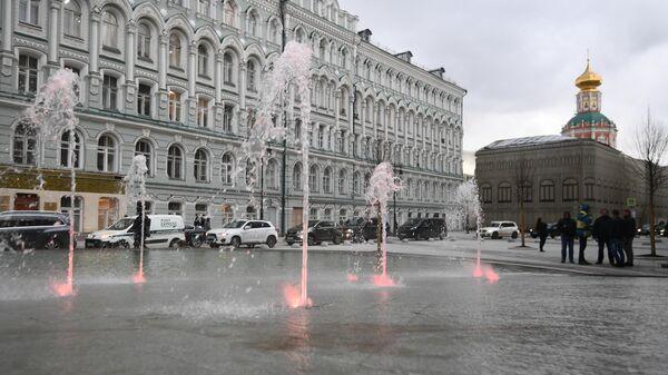 Открытие сезона фонтанов в Москве
