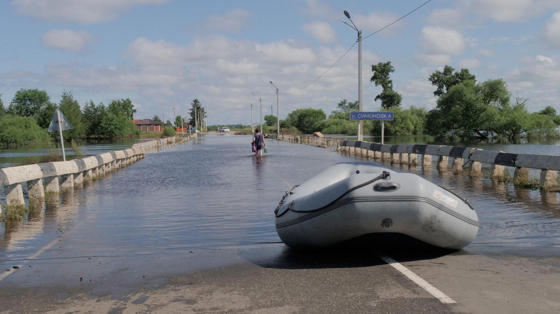 Дамбы в двух селах в Приамурье не справились с паводком