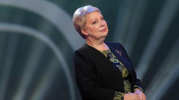 Ольга Васильева на церемонии награждения победителей конкурса  Учитель года России