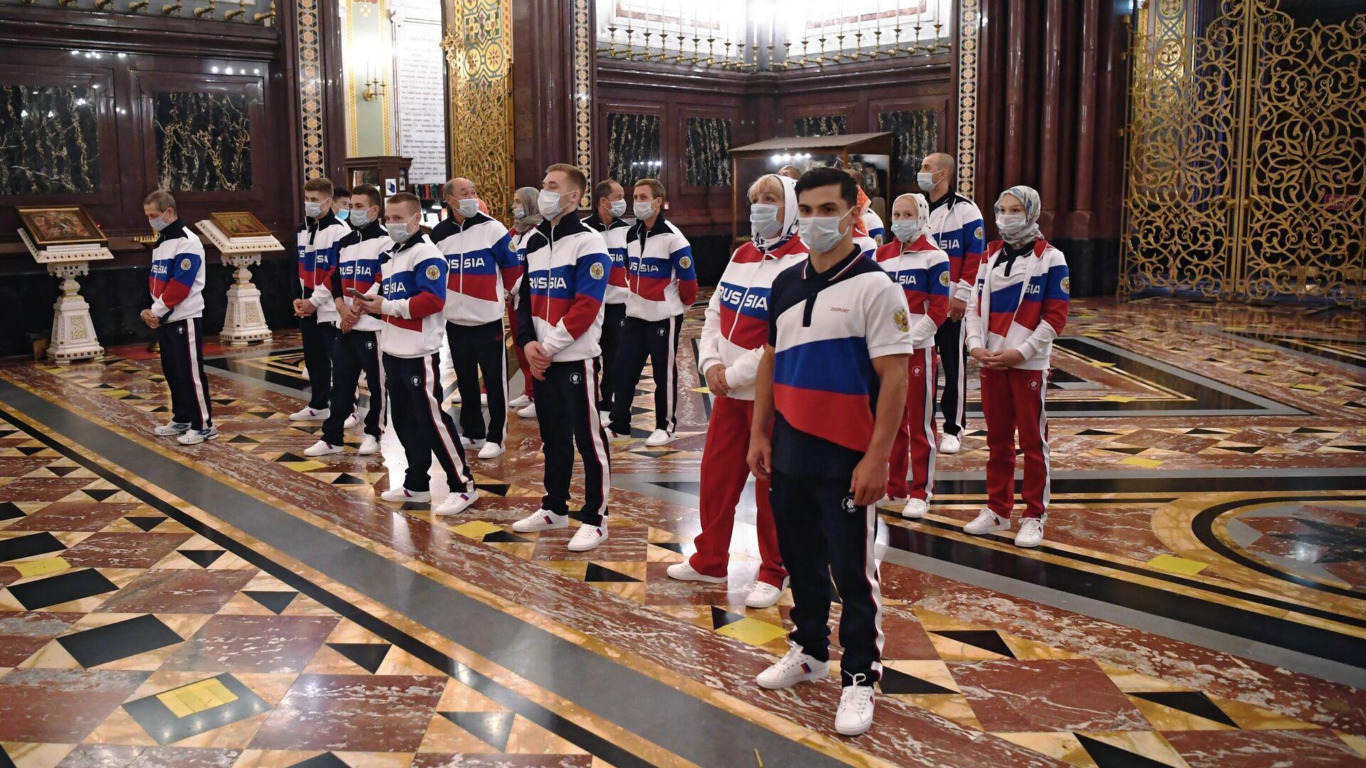 Молебен перед отъездом российских спортсменов в Токио  - РИА Новости, 1920, 01.07.2021