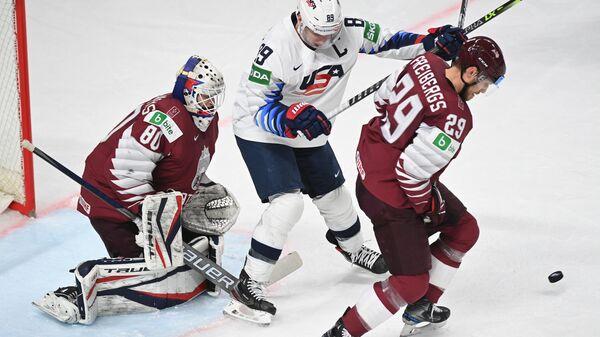 Хоккей. Чемпионат мира. Матч США - Латвия