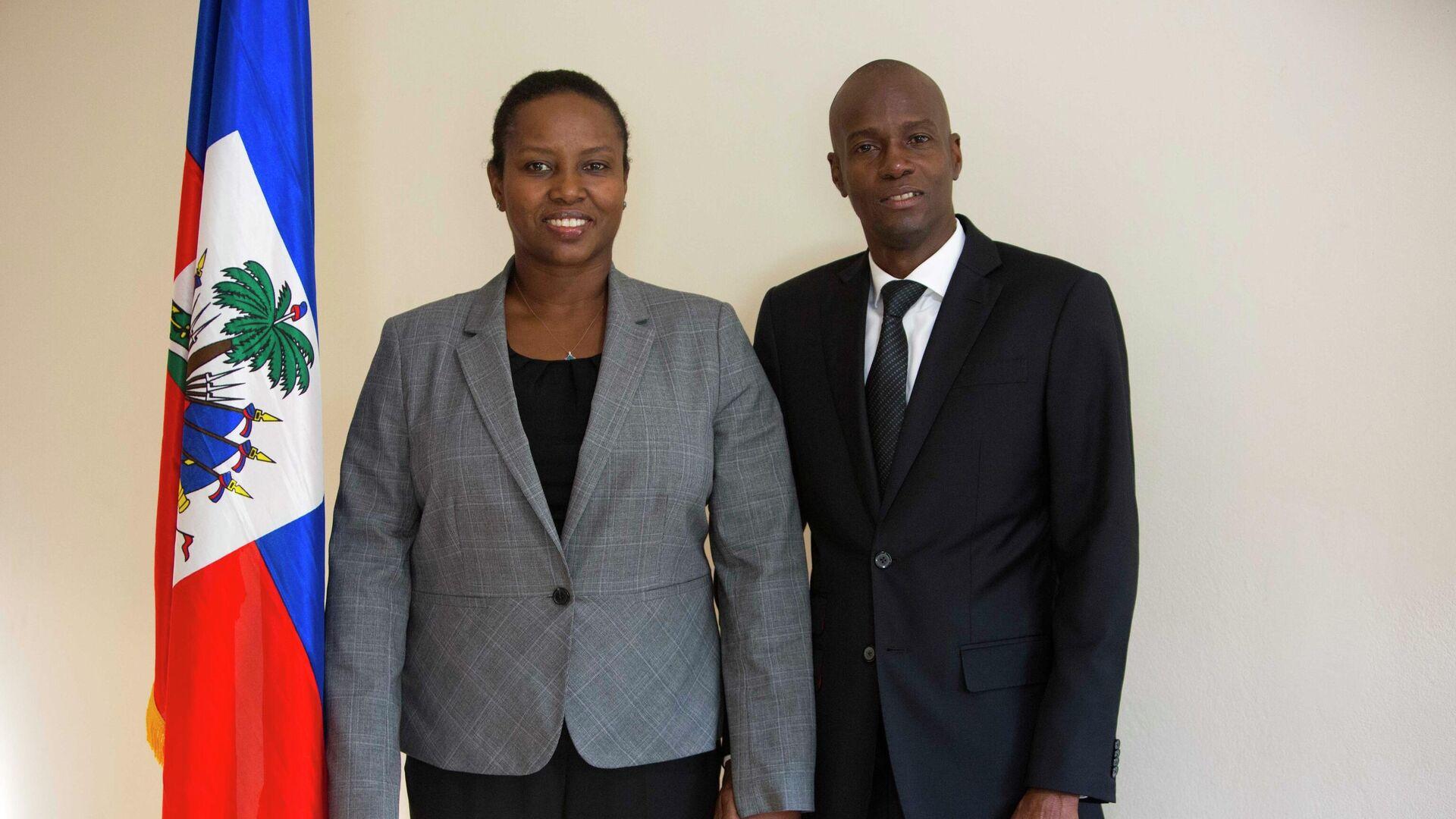 Президент Гаити Жовенель Моиз с женой Мартин - РИА Новости, 1920, 30.07.2021
