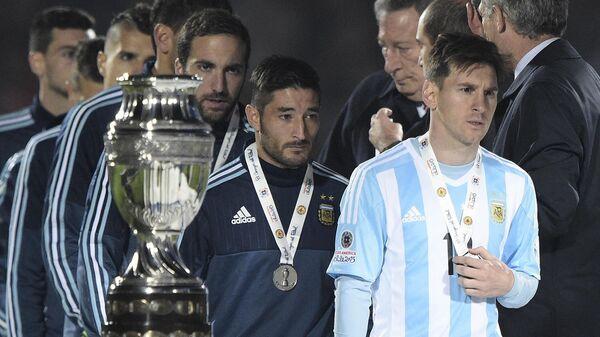 Лионель Месси на Copa America в 2015 году