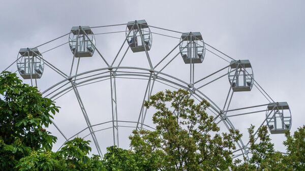Колесо обозрения в Центральном парке в Геленджике