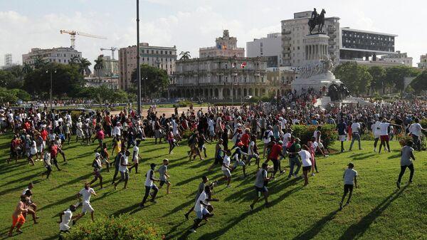 Акция протеста в Гаване