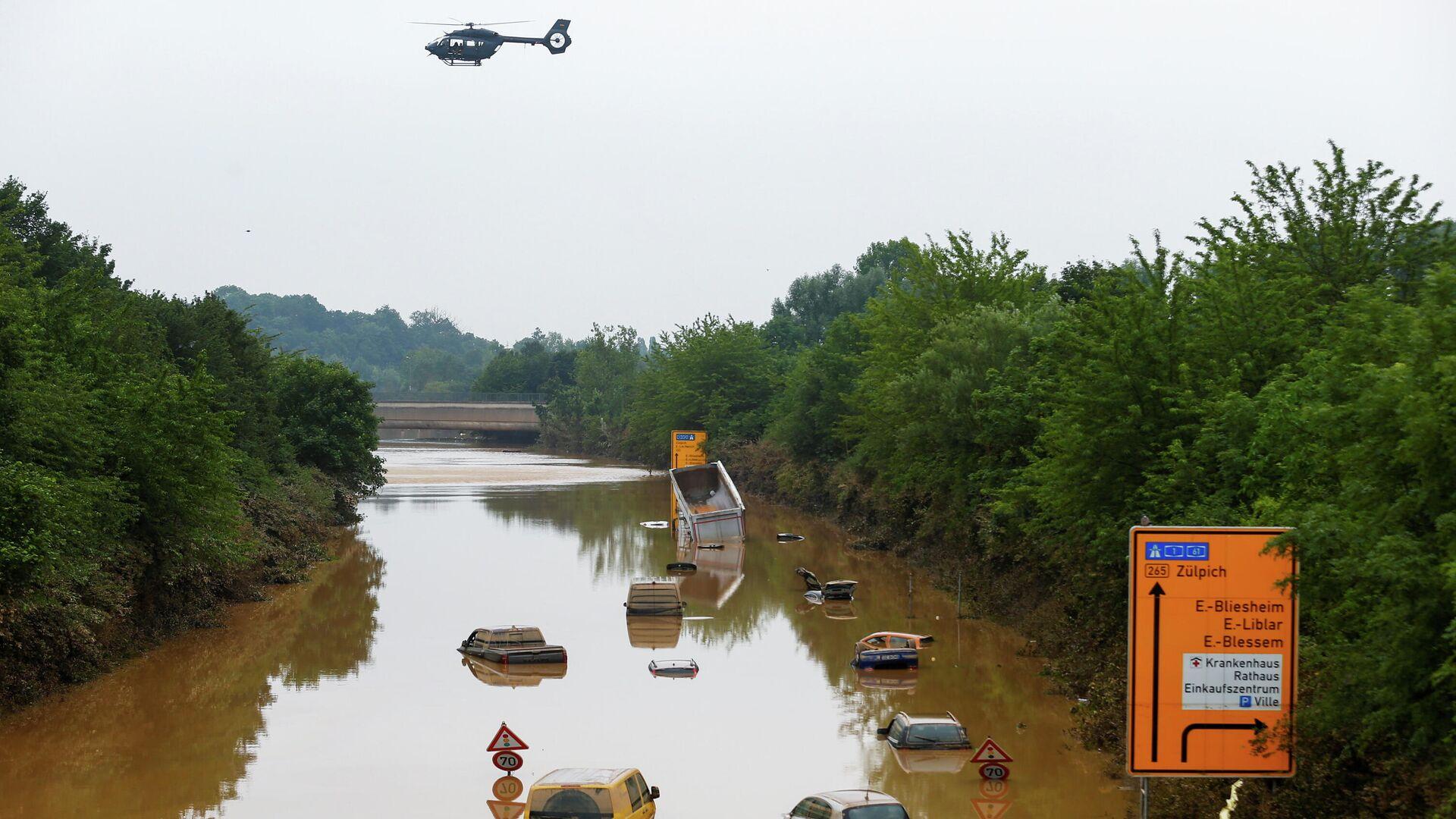 Последствия наводнения в городе Эрфтштадт-Блессем, Германия - РИА Новости, 1920, 18.07.2021