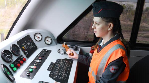 Участница кружка Юный железнодорожник
