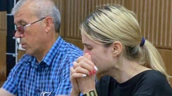 Валерия Башкирова на заседании Тверского суда
