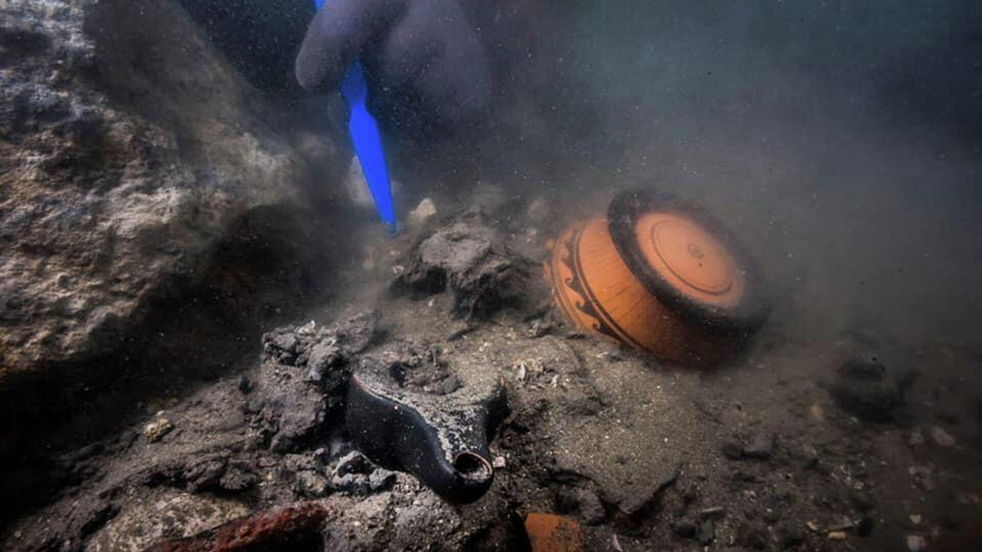 Египетско-французская археологическая экспедиция обнаружила обломки военного корабля в заливе Абу-Кир - РИА Новости, 1920, 21.07.2021