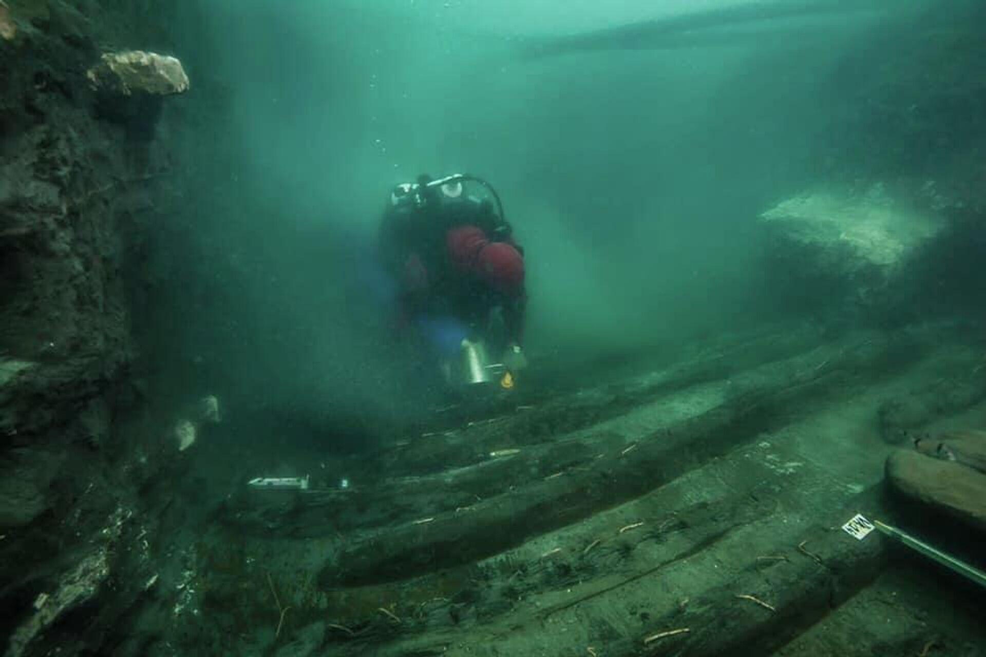 Египетско-французская археологическая экспедиция обнаружила обломки военного корабля в заливе Абу-Кир - РИА Новости, 1920, 20.07.2021