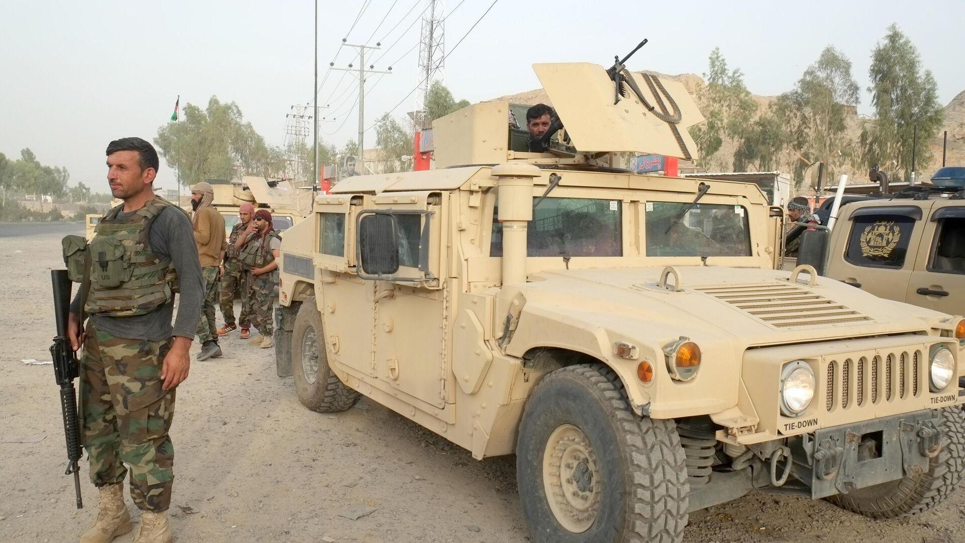 Военнослужащие правительственных войск Афганистана на линии соприкосновения с Талибами* - РИА Новости, 1920, 25.07.2021