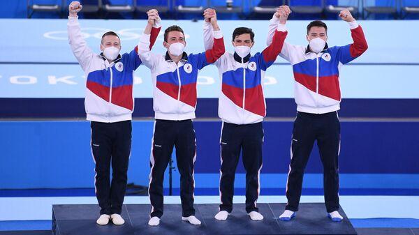 Российские гимнасты Денис Аблязин, Давид Белявский, Артур Далалоян и Никита Нагорный