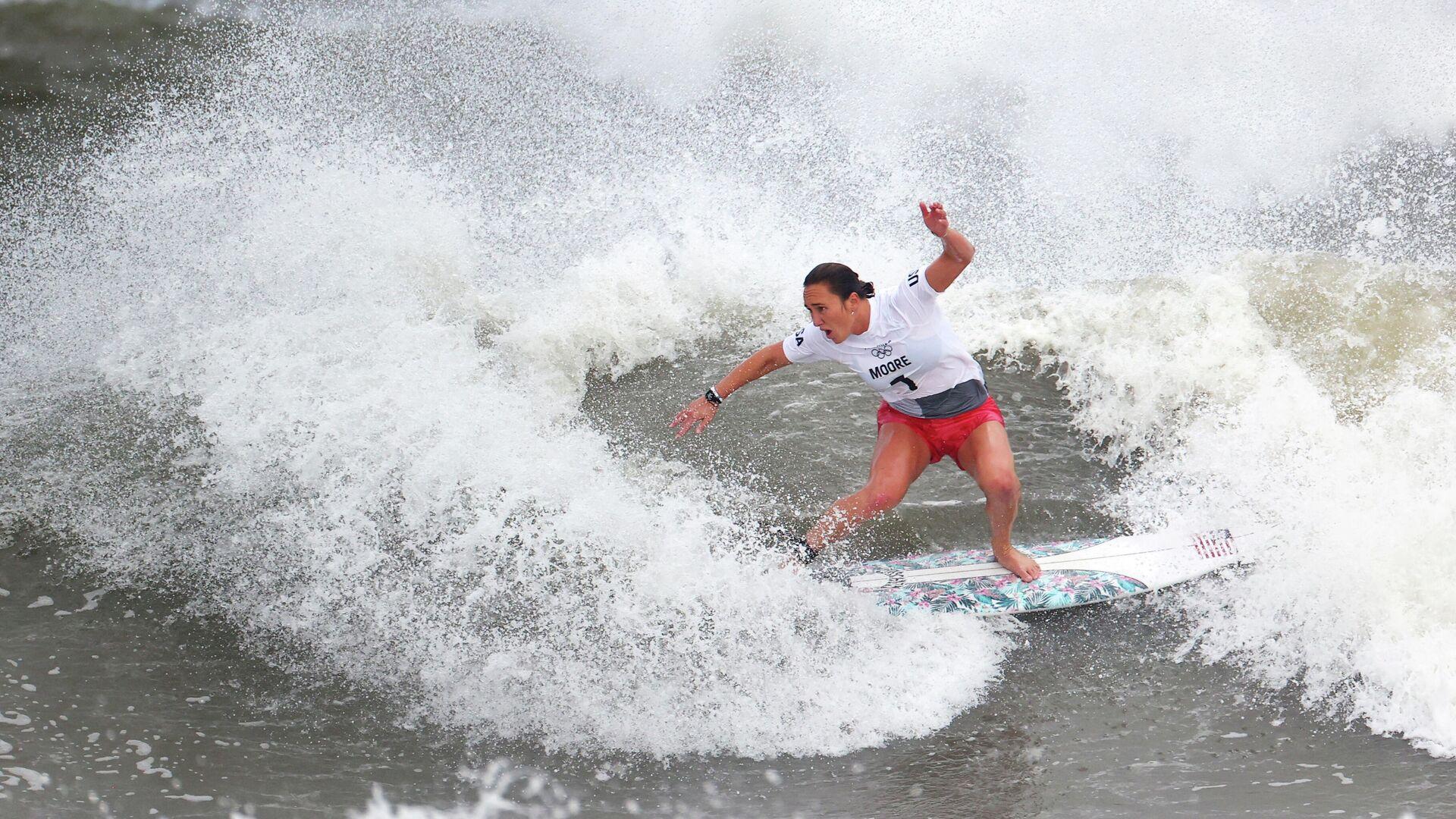 Американская серфингистка Карисса Мур на Олимпийских играх в Токио - РИА Новости, 1920, 27.07.2021