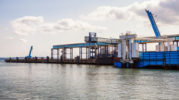 На территории немецкого порта Мукран на острове Рюген