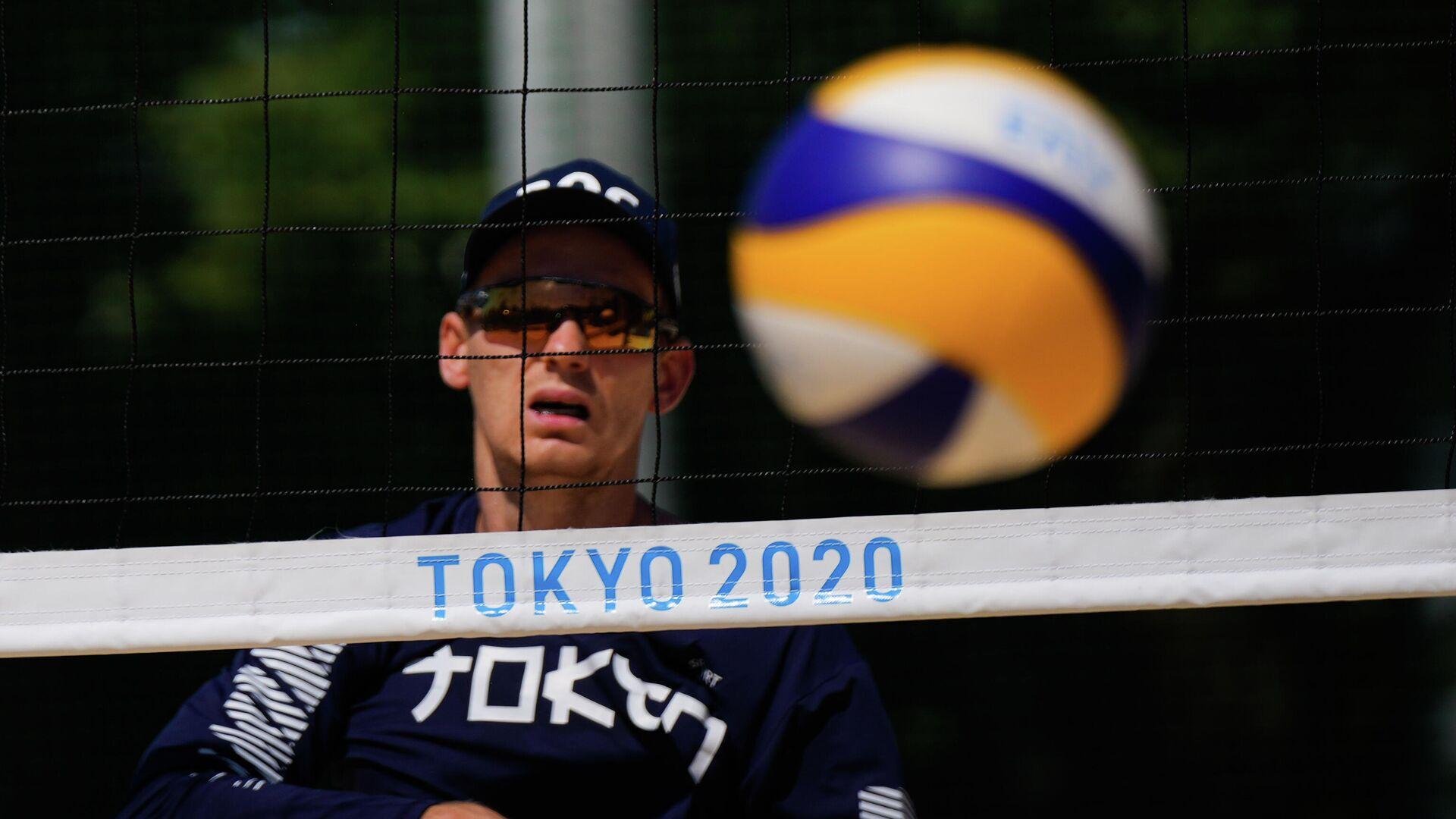 Олимпиада-2020. Пляжный волейбол. Тренировка сборной России - РИА Новости, 1920, 31.07.2021