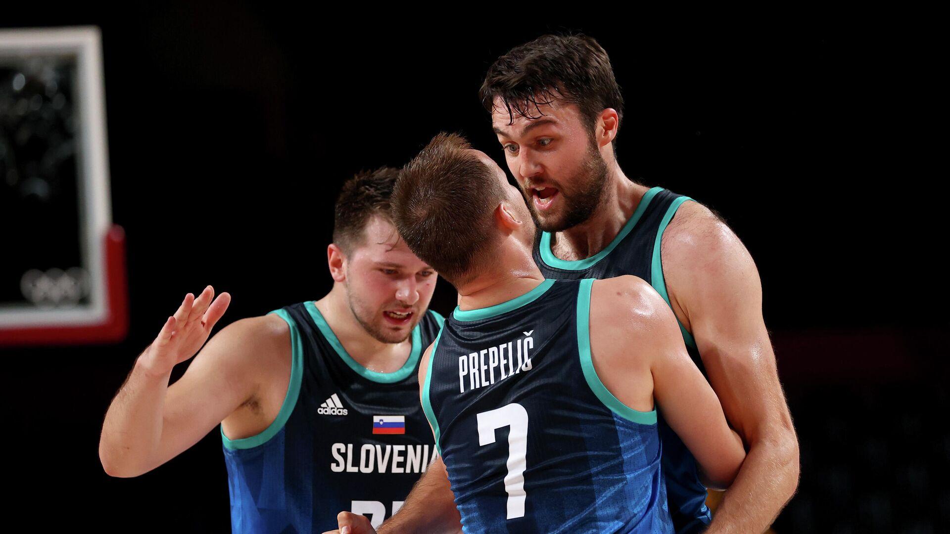 Баскетболисты сборной Словении - РИА Новости, 1920, 01.08.2021