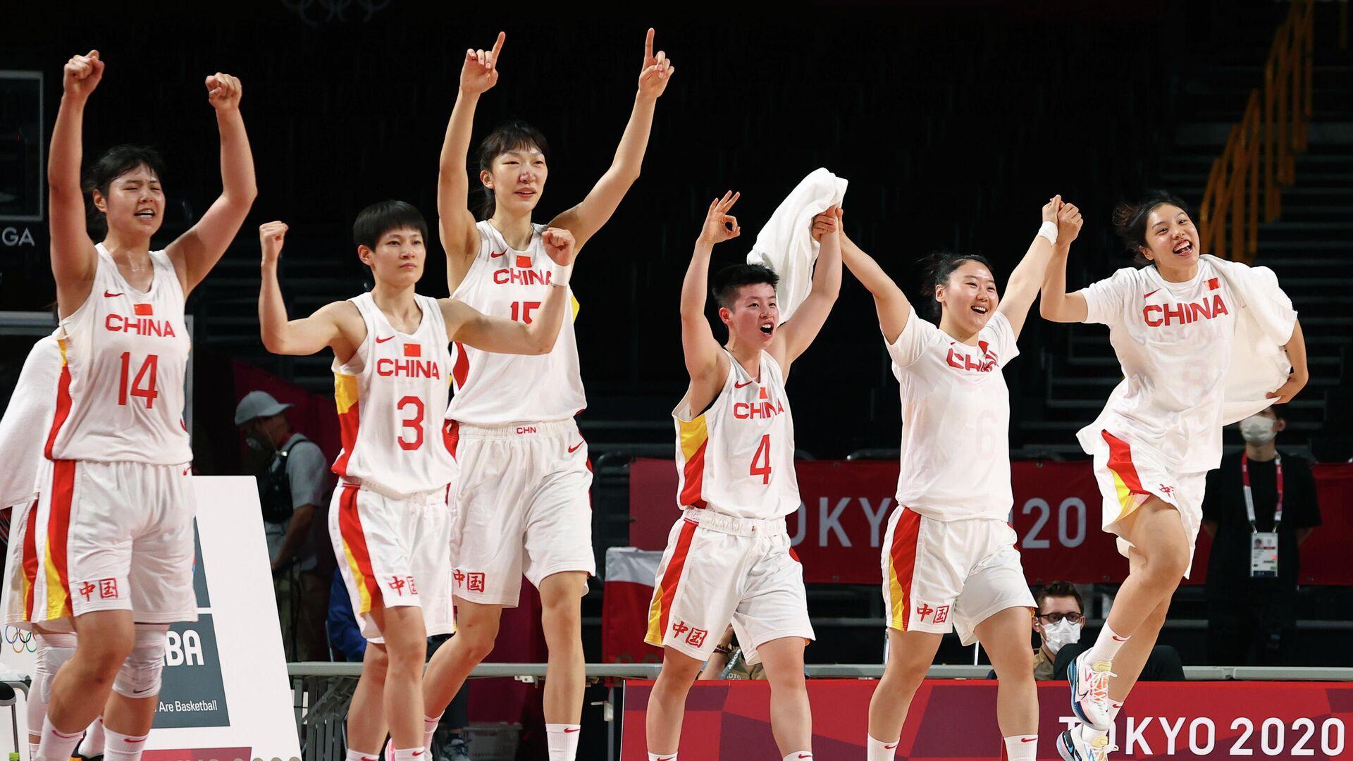 Баскетболистки сборной Китая - РИА Новости, 1920, 02.08.2021