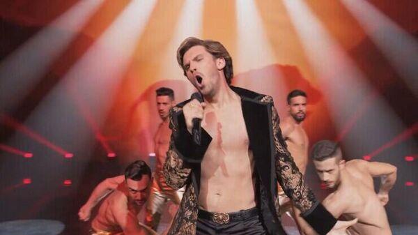 Кадр из фильма Музыкальный конкурс Евровидение: История группы Fire Saga