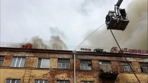 Видео с места тушения пожара во Владимирской области
