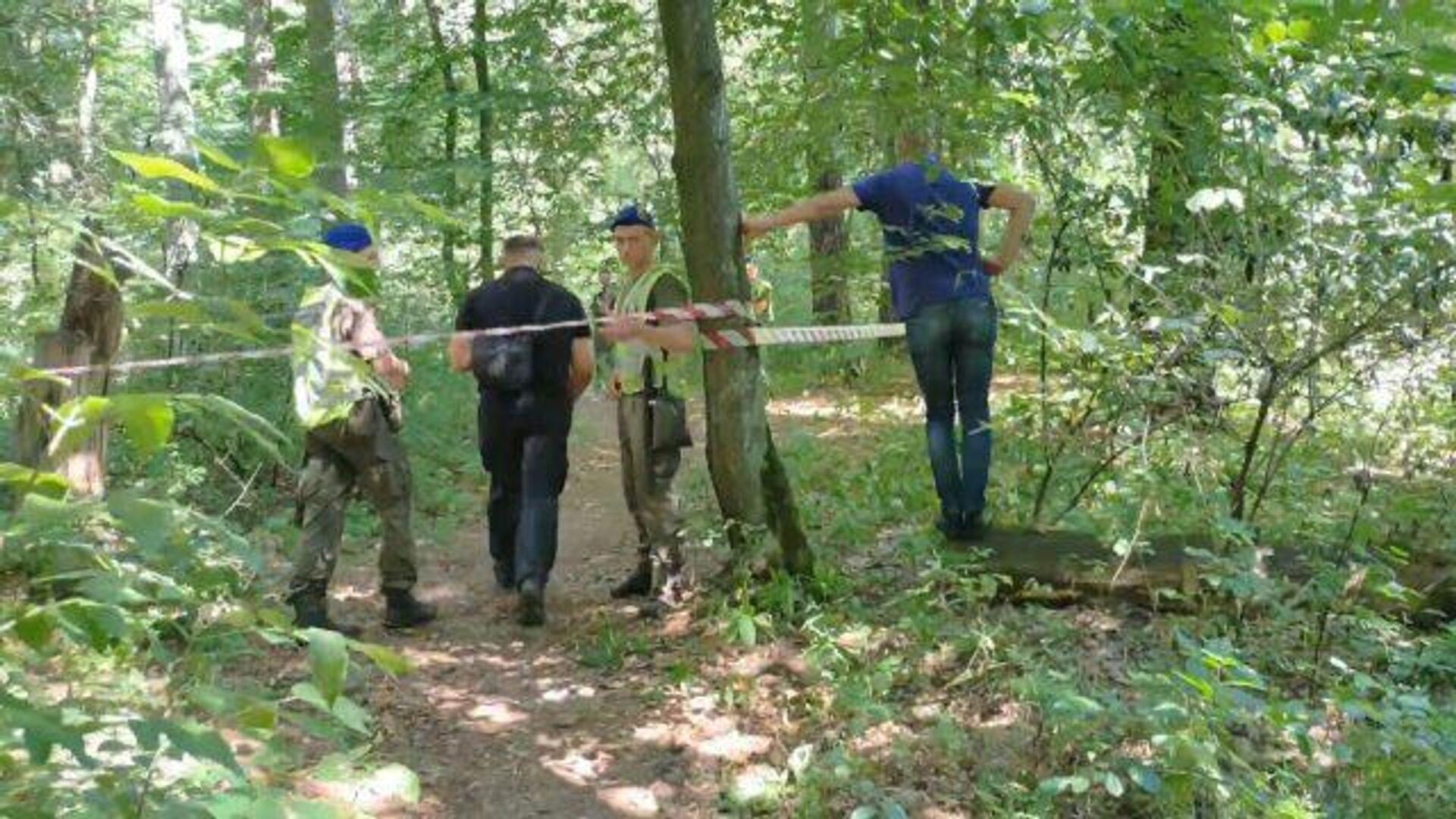 Место обнаружения тела белорусского активиста Шишова - РИА Новости, 1920, 03.08.2021