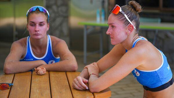 Олимпиада-2020. Пляжный волейбол. Женщины. Макрогузова/Холомина - Граудиня/Кравченок