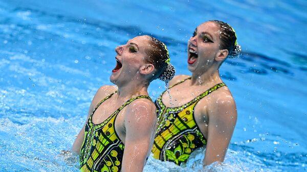 Российские спортсменки, члены сборной России (команда ОКР) Светлана Колесниченко и Светлана Ромашина